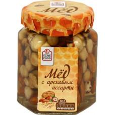 Мед с ореховым ассорти, 225гр