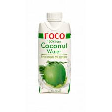 """Кокосовая вода """"FOCO"""" 330 мл Tetra Pak 100% натуральная, БЕЗ САХАРА"""