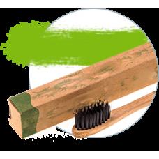 Зубная щетка Bamboobrush mini из бамбука, щетина с угольным напылением (мягкая)